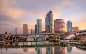 tampa fl real estate in downtown area skyline