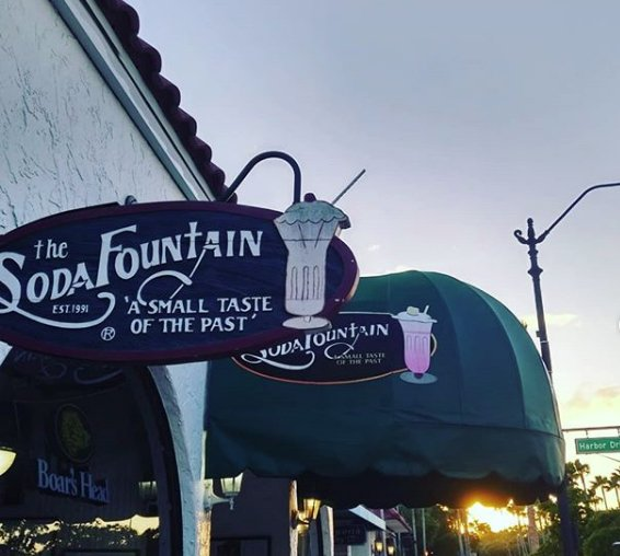 the soda fountain of venice, fl