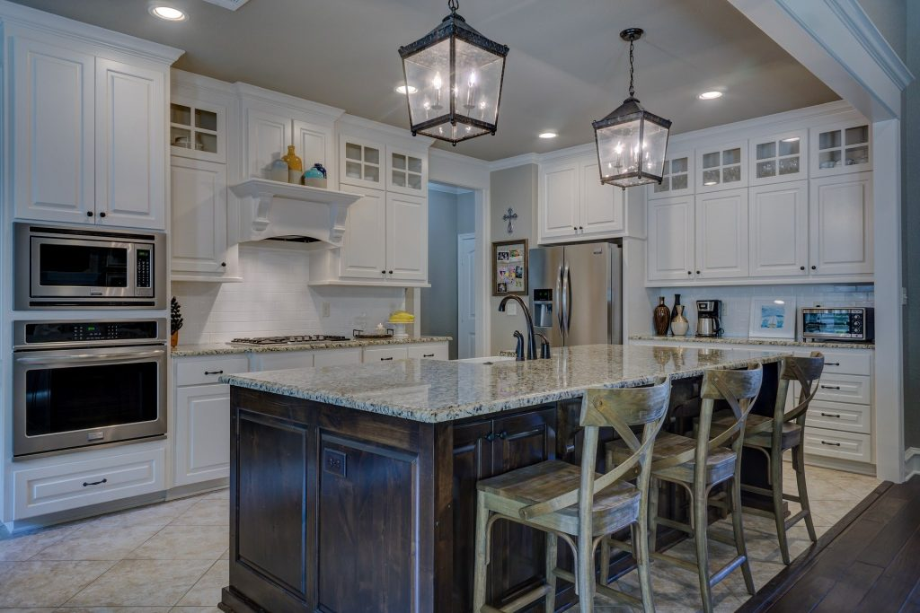 Modern home interior furnishings.