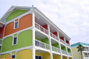 colorful and bright rental real estate.