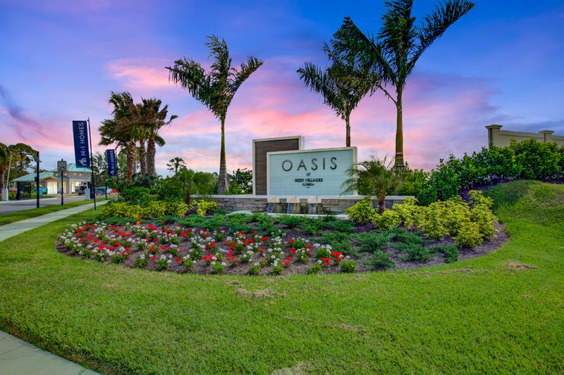 Entrance to Oasis Homes in Venice FL
