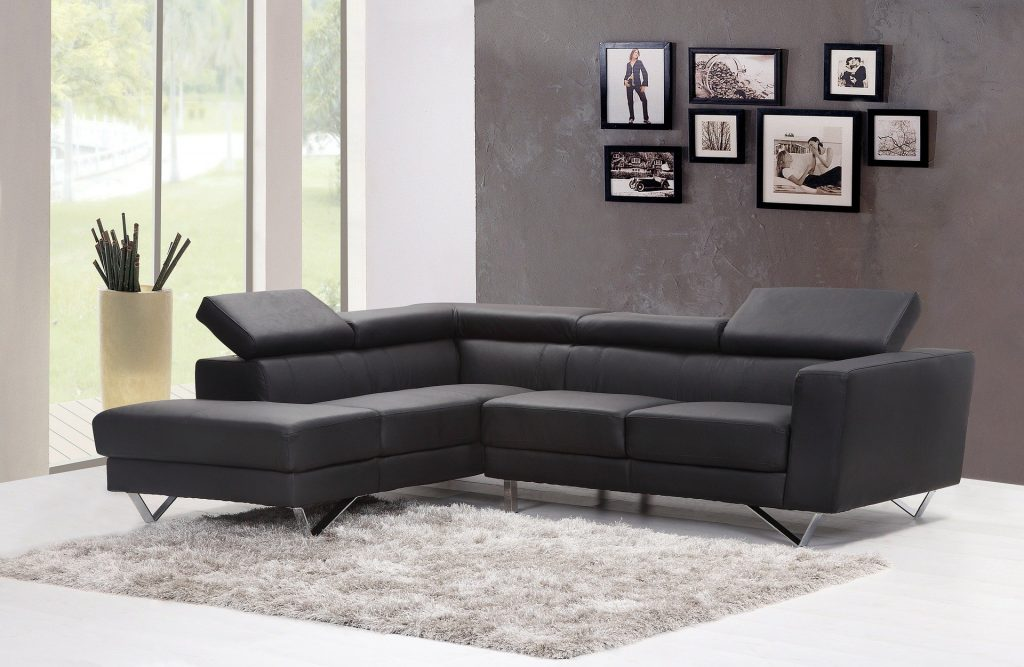 New sofa replaced with leather to help sell your home.