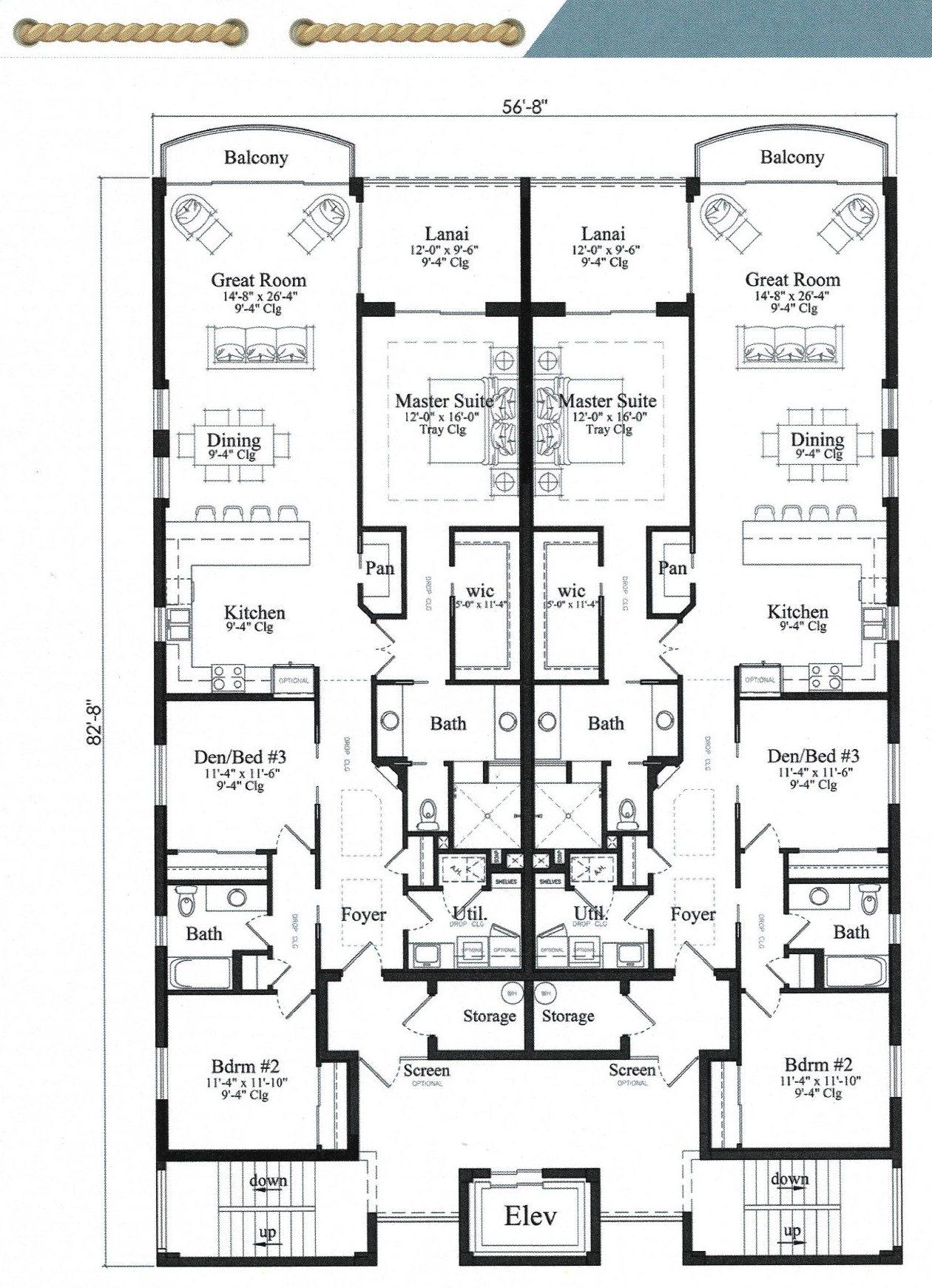 Porto Vista Floor Plan For sale