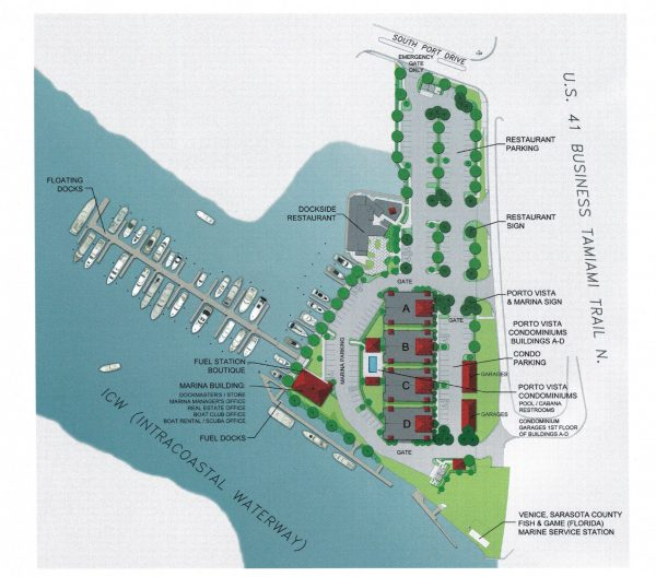 Porto Vista Condominiums Venice Florida map