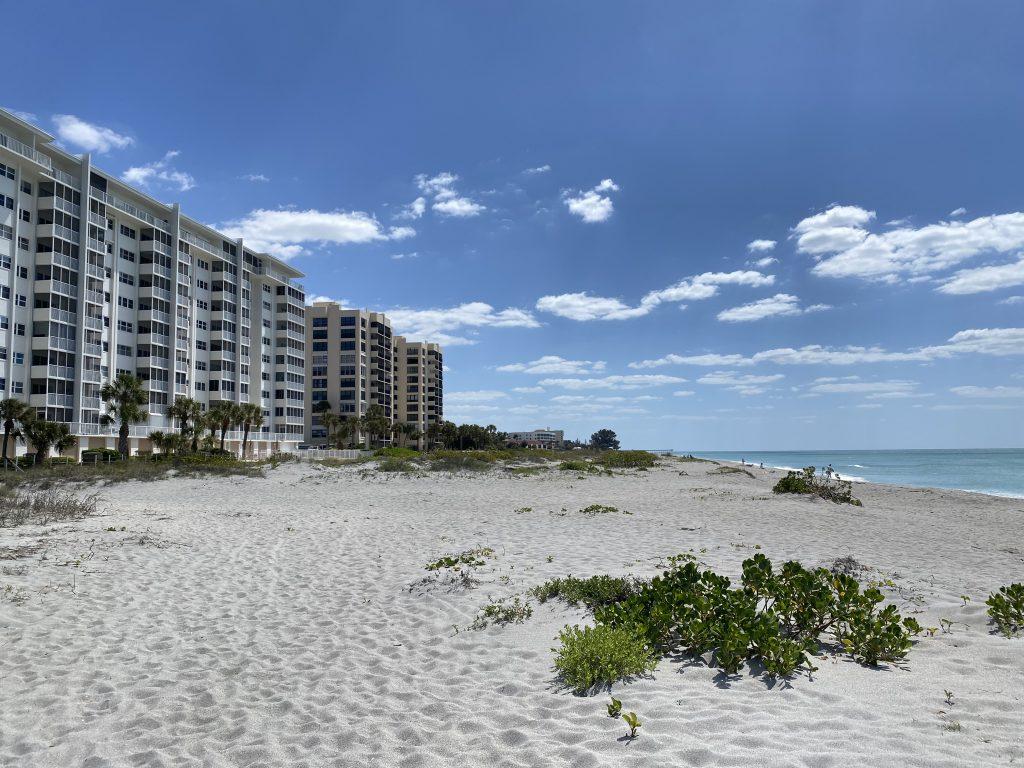 Condos on the Beach in Venice Florida.