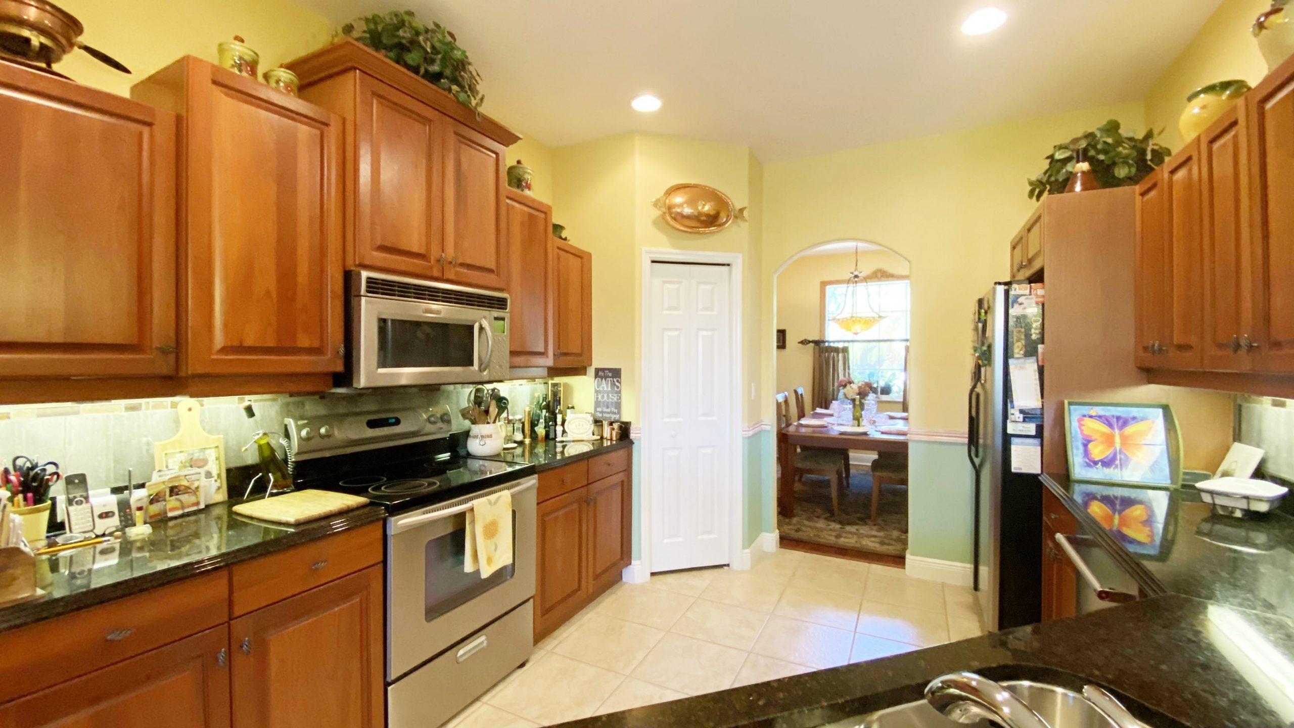 Kitchen 107 wayforest black granite counters.
