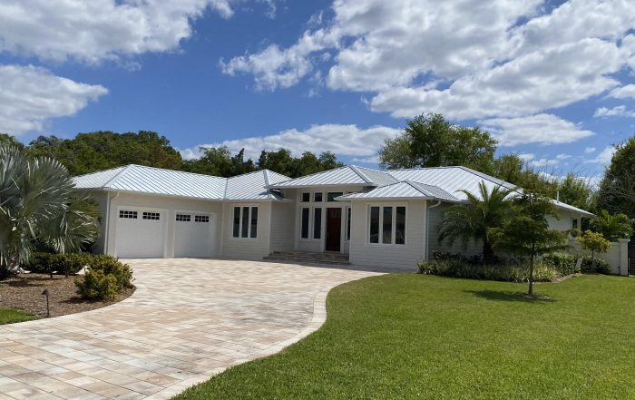 House with metal roof located in Venice Florida.